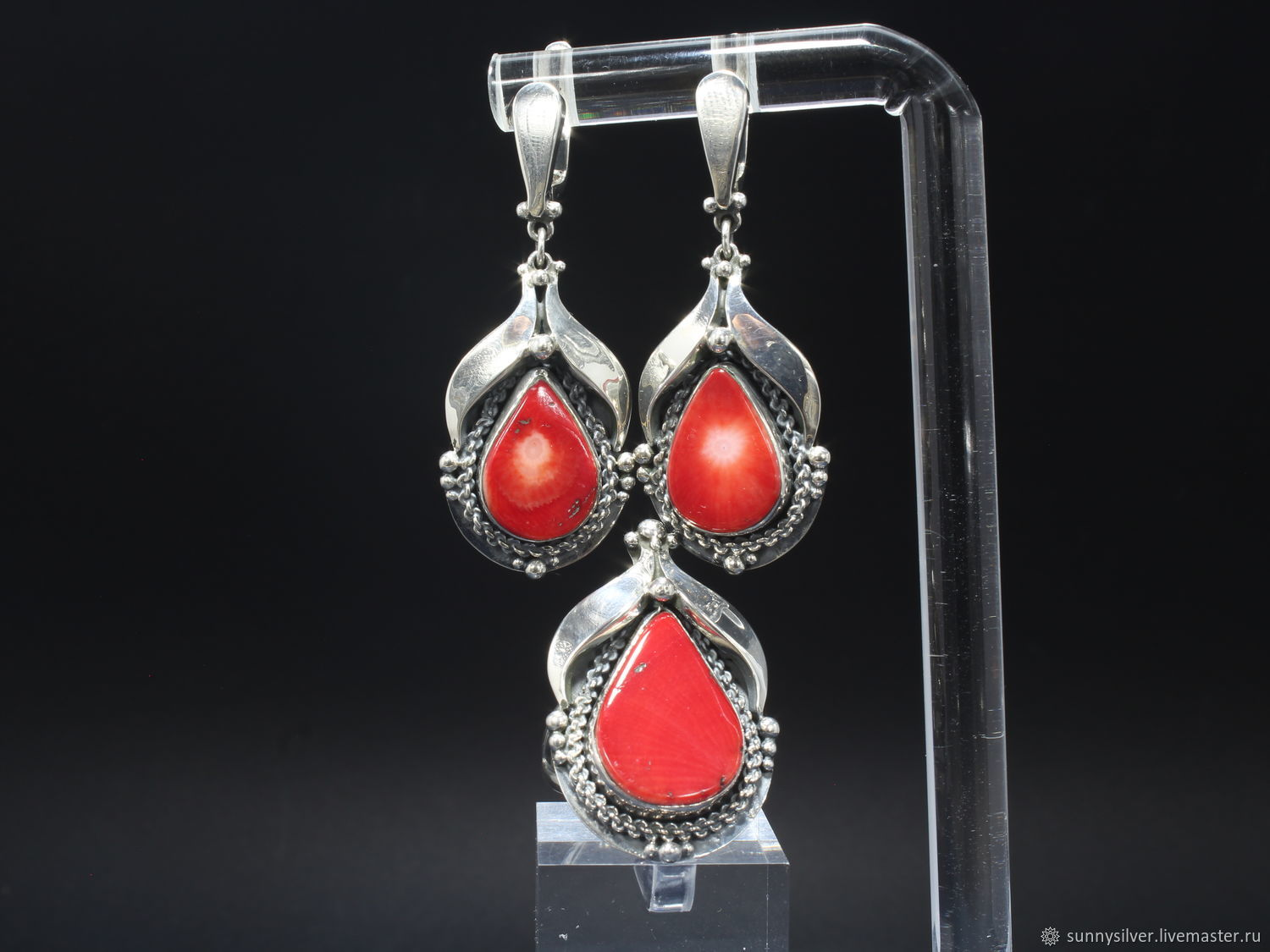 Belladonna jewelry Set with coral in 925 silver HH0017, Jewelry Sets, Yerevan,  Фото №1