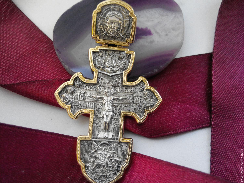 Крест православный серебро 925, Украшения, Москва, Фото №1