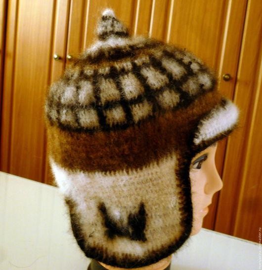 Шапки ручной работы. Ярмарка Мастеров - ручная работа. Купить шапка вязанная из собачьей шерсти. Handmade. Комбинированный, пряжа для вязания