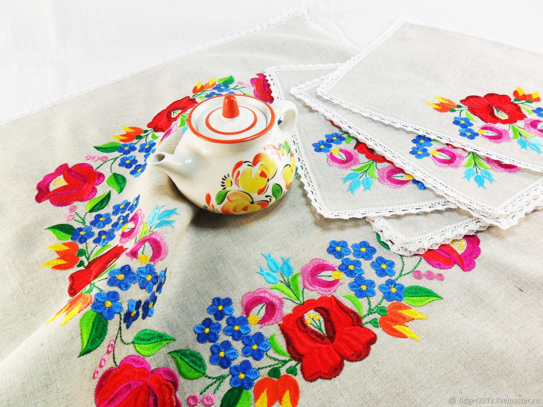 Table Napkins Linen Napkins Tablecloth With Napkins Embroidery Kupit Na Yarmarke Masterov Hja1bcom Salfetki Bakhmut