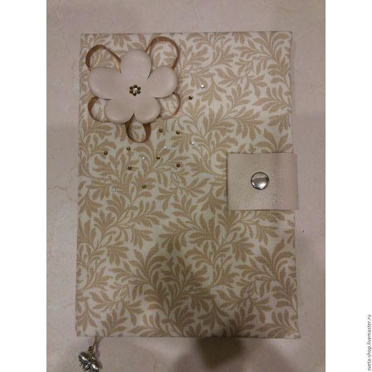 Блокноты ручной работы. Ярмарка Мастеров - ручная работа. Купить Блокнот сухоцветы. Handmade. Бежевый, блокнот в подарок, Скрапбукинг