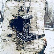 Украшения handmade. Livemaster - original item Talisman/Pendant Thor`s Hammer - Mjolnir of steel. Handmade.