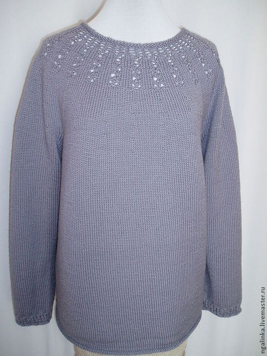 Кофты и свитера ручной работы. Ярмарка Мастеров - ручная работа. Купить джемпер из шерсти Серый цвет. Handmade. Серый