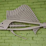 Панно ручной работы. Ярмарка Мастеров - ручная работа Рыба на стену. Марлин.. Handmade.