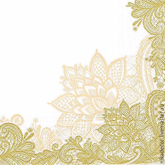 Декупаж и роспись ручной работы. Ярмарка Мастеров - ручная работа. Купить Элегантное кружево золото (TL400019) - салфетка для декупажа. Handmade.