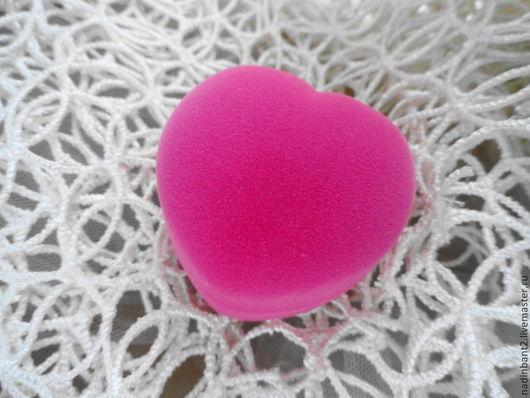 """Упаковка ручной работы. Ярмарка Мастеров - ручная работа. Купить Футляр """"Нежное Сердце"""" флок. Handmade. Розовый, маленький футляр"""
