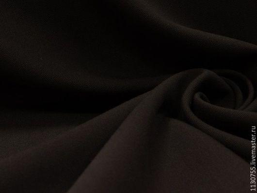 Шитье ручной работы. Ярмарка Мастеров - ручная работа. Купить ткань костюмная вискоза стрейч шоколад. Handmade. Коричневый