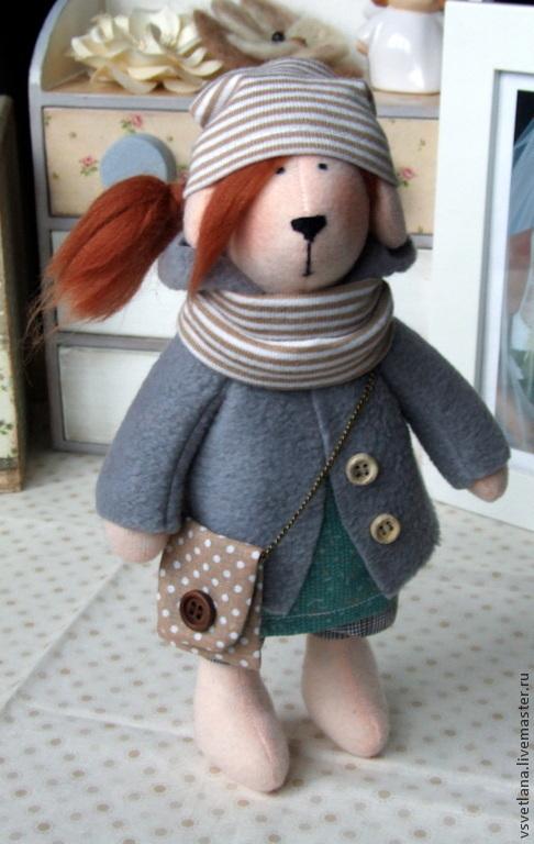 Куклы Тильды ручной работы. Ярмарка Мастеров - ручная работа. Купить Рыжая собачка. Handmade. Разноцветный, кукла в подарок, флис