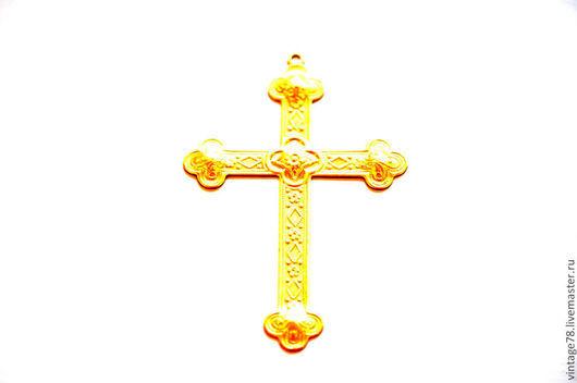 Для украшений ручной работы. Ярмарка Мастеров - ручная работа. Купить Винтажная фурнитура, латунный штамп крест PR13. Handmade.