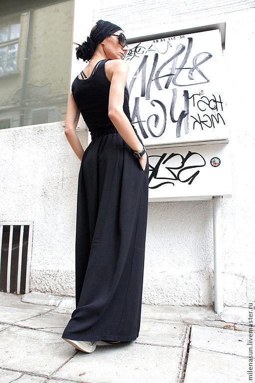 Широкие черные брюки доставка