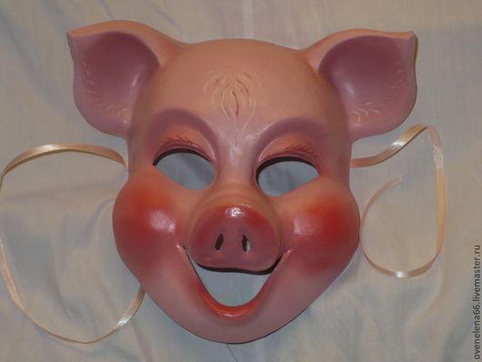 Праздничная атрибутика ручной работы. Ярмарка Мастеров - ручная работа. Купить Свинка. Handmade. Розовый, карнавальная маска, маска поросенок