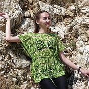 Одежда ручной работы. Ярмарка Мастеров - ручная работа Накидка Зеленый ажур. Handmade.