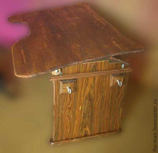 Детская ручной работы. Ярмарка Мастеров - ручная работа. Купить Темная парта из дерева. Handmade. Парта, детская мебель, массив