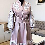 """Одежда handmade. Livemaster - original item Нарядное платье с кружевом """"Пудровое"""" кружевное платье. Handmade."""