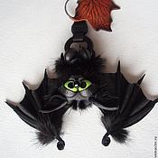 Сумки и аксессуары ручной работы. Ярмарка Мастеров - ручная работа Брелок на сумку Летучий мышонок. Handmade.