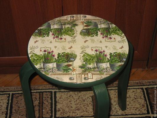 """Мебель ручной работы. Ярмарка Мастеров - ручная работа. Купить Табурет """"Уголок садовника"""". Handmade. Тёмно-зелёный, табуретка"""