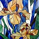 Order Irises. Stained glass. Glass Flowers. Livemaster. . Stained glass Фото №3
