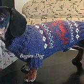 Зоотовары handmade. Livemaster - original item Knitted sweater for dachshund