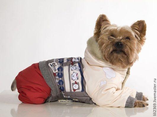 """Одежда для собак, ручной работы. Ярмарка Мастеров - ручная работа. Купить Комбинезон для собак """"Веселый поезд"""". Handmade. Собаки, йорк"""