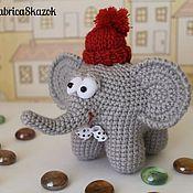 Куклы и игрушки ручной работы. Ярмарка Мастеров - ручная работа Игрушка Слоненок, связанный крючком. Handmade.