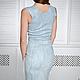 Order Felted dress bodycon 'Shabby denim'. lenabaymut (Baymut). Livemaster. . Dresses Фото №3