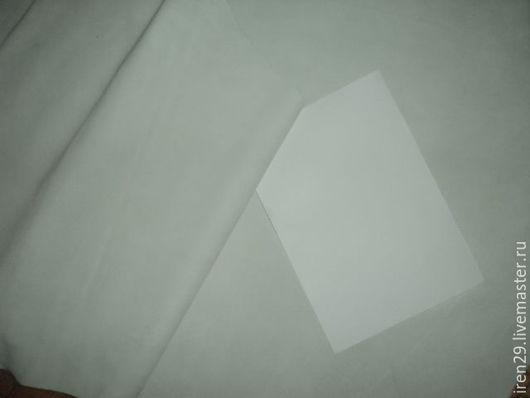 """Шитье ручной работы. Ярмарка Мастеров - ручная работа. Купить Натуральная кожа спилок велюр """"Молочный"""". Handmade. Кожа, велюр"""
