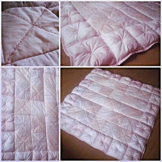 """Для новорожденных, ручной работы. Ярмарка Мастеров - ручная работа. Купить Детское лоскутное одеяло """"Розовая нежность"""". Handmade."""