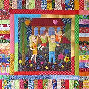 """Для дома и интерьера ручной работы. Ярмарка Мастеров - ручная работа Лоскутное одеяло """"Всегда вместе"""". Handmade."""