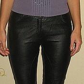 Одежда ручной работы. Ярмарка Мастеров - ручная работа кожаные брюки. Handmade.