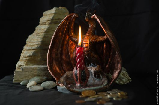 Подсвечник `Хранитель огня` Мастер Евгений Исаев