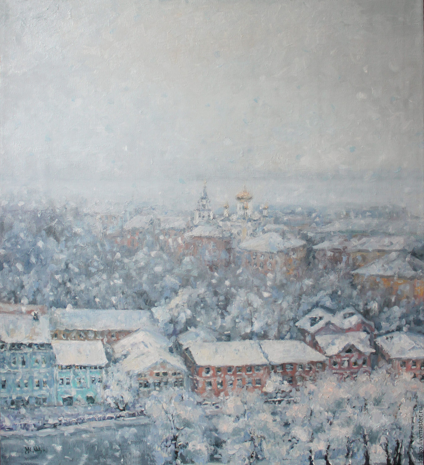 Oil painting ' It was a very snowy day', Pictures, Nizhny Novgorod,  Фото №1