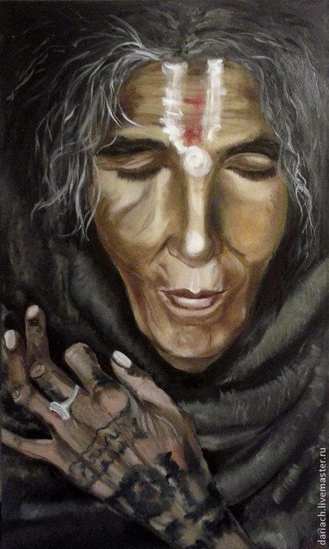 """Люди, ручной работы. Ярмарка Мастеров - ручная работа. Купить картина маслом """"портрет женщины индейца"""". Handmade. Индейцы"""