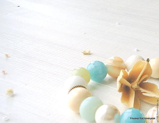 """Браслеты ручной работы. Ярмарка Мастеров - ручная работа. Купить Сет из браслетов """"Морская акварель"""". Handmade. Голубой, купить браслет"""