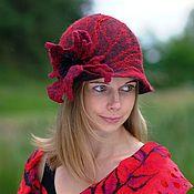 Аксессуары handmade. Livemaster - original item Carmen - felted hat. Handmade.