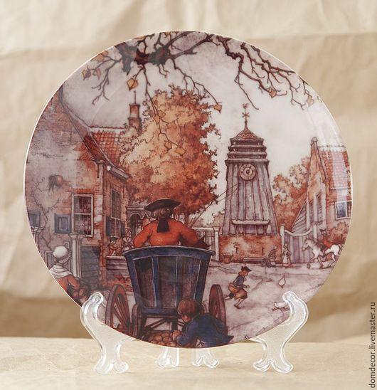 """Тарелки ручной работы. Ярмарка Мастеров - ручная работа. Купить Тарелка """"Голландская осень"""". Handmade. Рыжий, коричневый, голландия"""