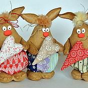 Куклы и игрушки ручной работы. Ярмарка Мастеров - ручная работа Кролик  Пухлик. Handmade.