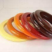 Украшения handmade. Livemaster - original item Bracelets jewelry set-wood subtle Autumn colours. Handmade.