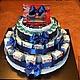 """Праздничная атрибутика ручной работы. Торт для мальчика """"Детский садик"""". Торт из памперсов (BonbooketBaby). Ярмарка Мастеров. Торт для мальчика"""