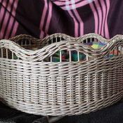 Для дома и интерьера ручной работы. Ярмарка Мастеров - ручная работа Корзина плетёная для фотосессий. Handmade.