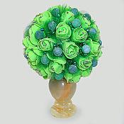 """Цветы и флористика ручной работы. Ярмарка Мастеров - ручная работа Цветы из агата """"Агатовое очарование"""" в вазочке из оникса. Handmade."""