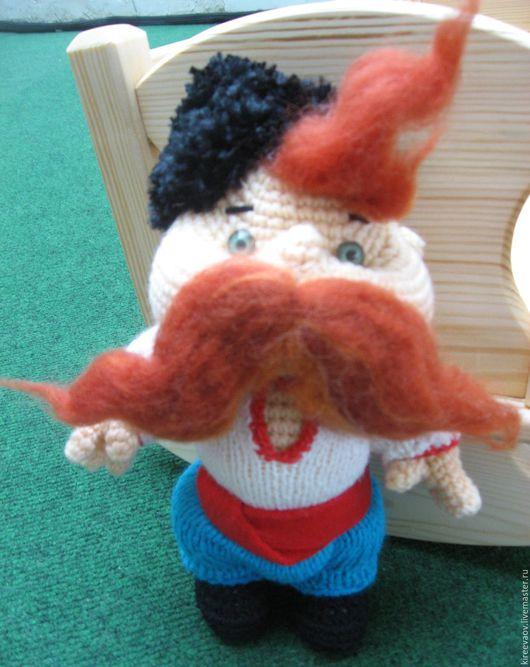 Коллекционные куклы ручной работы. Ярмарка Мастеров - ручная работа. Купить Казак. Handmade. Комбинированный, подарок на день рождения, шерсть