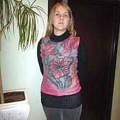 Одежда ручной работы. Ярмарка Мастеров - ручная работа туника валяная Фуксия. Handmade.