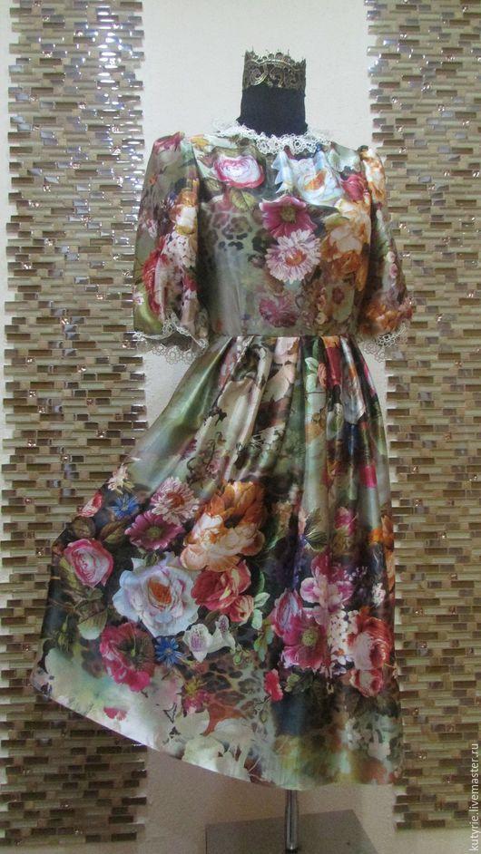 """Платья ручной работы. Ярмарка Мастеров - ручная работа. Купить Авторское платье """"Dolce Rose"""". Handmade. Коралловый, шебби стиль"""