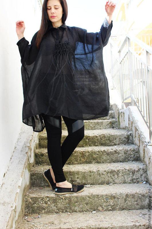 """Блузки ручной работы. Ярмарка Мастеров - ручная работа. Купить Рубашка """" Beauty Black-"""" B0051. Handmade."""
