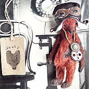 Куклы и игрушки ручной работы. Ярмарка Мастеров - ручная работа 17 см - Монти стимпанк - коллекционный мишка тедди. Handmade.