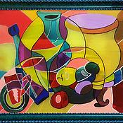 Картины и панно ручной работы. Ярмарка Мастеров - ручная работа Витраж по детскому рисунку. Натюрморт.. Handmade.