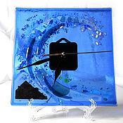 Для дома и интерьера handmade. Livemaster - original item Watch Sea wave. Glass, Fusing.. Handmade.