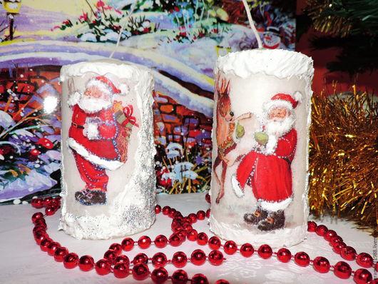 Свечи ручной работы. Ярмарка Мастеров - ручная работа. Купить Свечи новогодние. Handmade. Белый, Новый Год