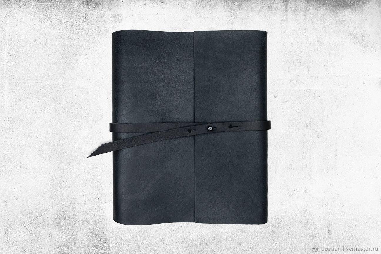 Блокнот кожаный черный, Блокноты, Москва,  Фото №1
