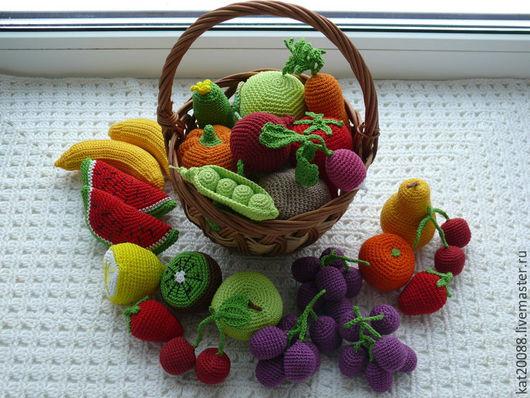 Еда ручной работы. Ярмарка Мастеров - ручная работа. Купить Вязаные фрукты-овощи. Handmade. Вязаная игрушка, еда для кукол